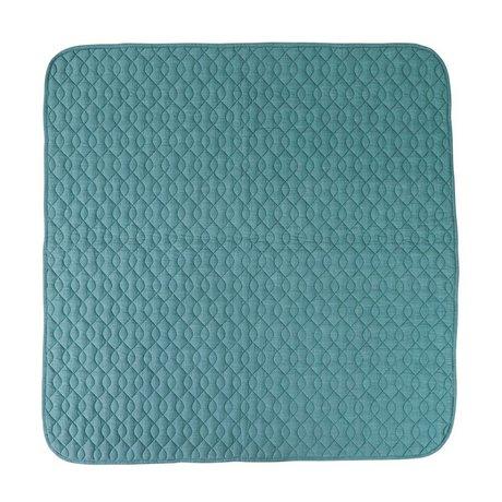 Sebra Blå bomuld tæppe 120x120cm
