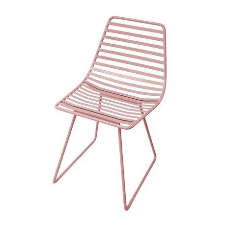 Sebra Chair pink metal S 32x58x33cm