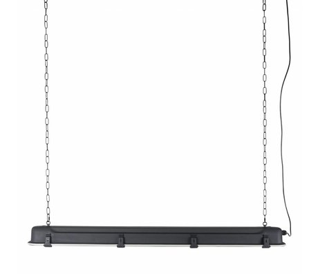 Zuiver GTA XL colgante de luz negro, metálico negro 130x14x10cm
