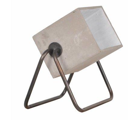 Zuiver Lampadaire en béton jusqu'à ciment 38x27x45cm gris