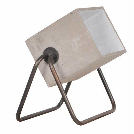 Zuiver Stehlampe aus Beton nach oben Zement grau 38x27x45cm