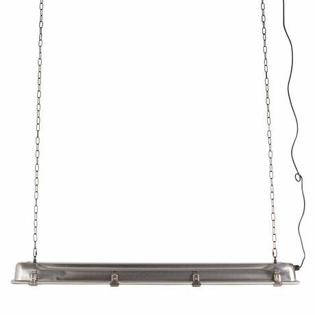 Zuiver Lampada a sospensione GTA nichel, grigio metallizzato 130x14x10cm