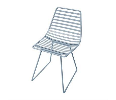 Sebra Stuhl blau Metall S 32x58x33cm