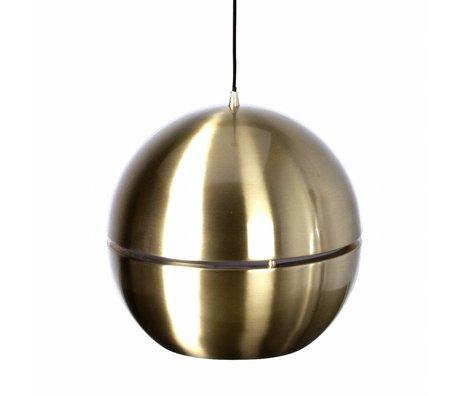 """Zuiver Lampe à suspension """"Retro 70 'métal doré Ø40x37cm"""