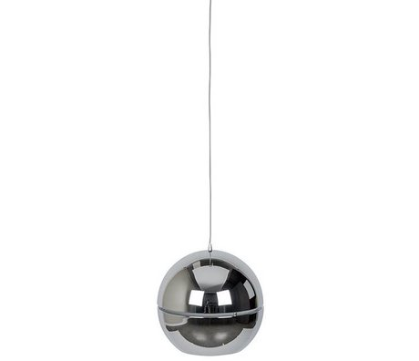 "Zuiver Hanging lamp ""Retro 70"" chrome metal Ø50x47cm"