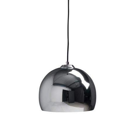 Zuiver Big pendant light Glow chrome metal Ø27x21cm