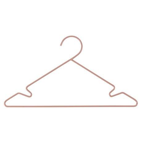 Sebra Clothes Hanger 3 pcs pink metal 34x18cm