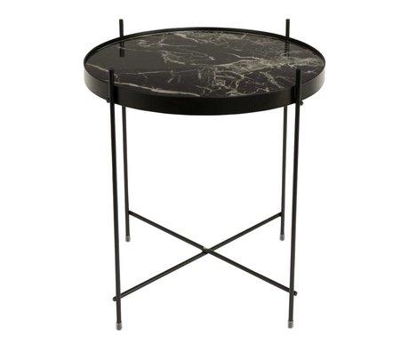 Zuiver Beistelltisch Marmor Amor schwarz Metall schwarz Ø43x45cm