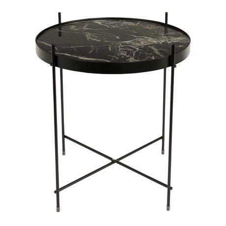 Zuiver marmo laterale Cupido metallo nero Ø43x45cm nero