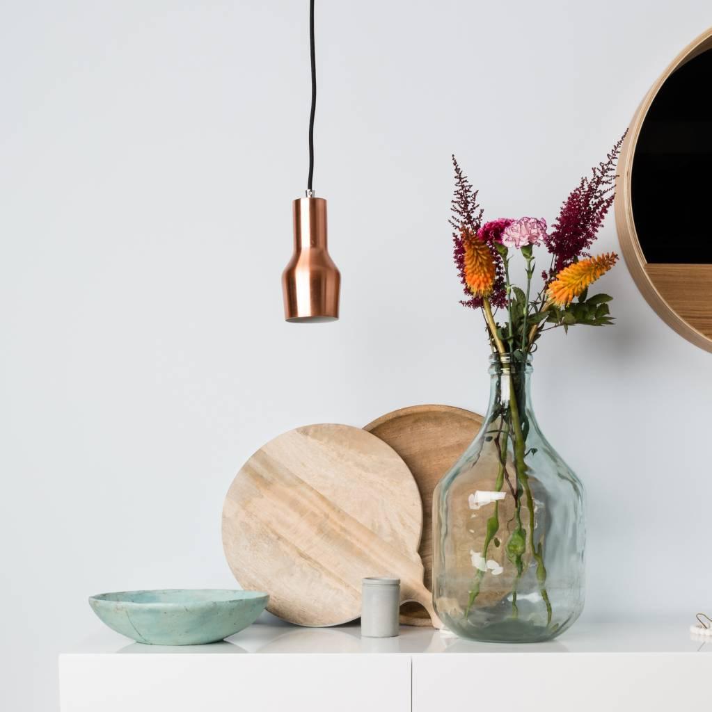 Zuiver Mora S lámpara colgante de cobre, cobre metálico Ø10x125cm