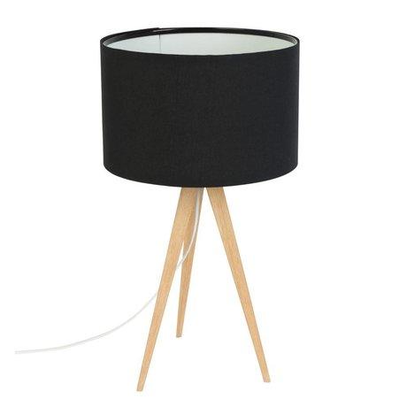 Zuiver Trípode lámpara de mesa de madera 28x51cm negro