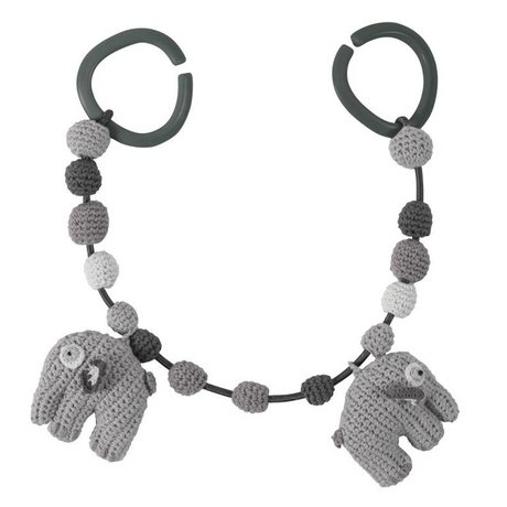 Sebra Elephant Auto tensioner gray 53cm cotton