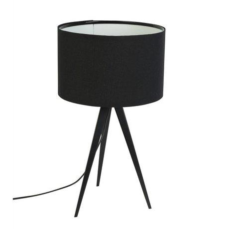 Zuiver Treppiede lampada da tavolo in metallo, 28x51cm nero tessile