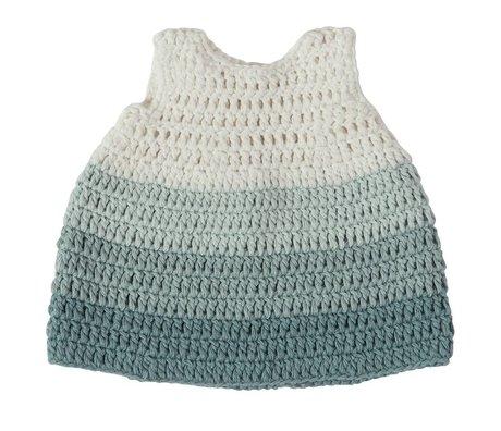 Sebra Poupées Vêtements pastel coton bleu 40cm