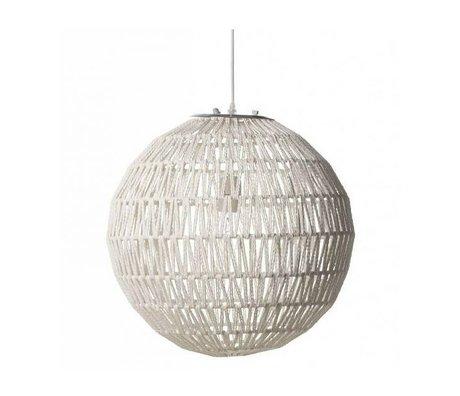 Zuiver Kabelhängelampe 60 weiß, Metall weiß Ø60cm