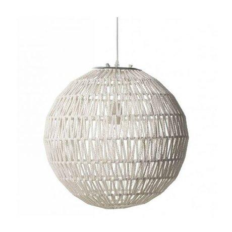 Zuiver lampe suspendue par câble 60 Ø60cm blanc, métal blanc