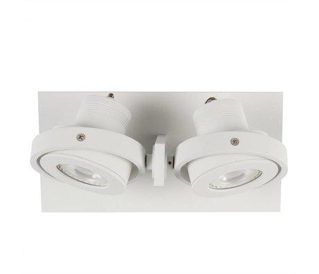 Zuiver Applique murale DICE 2 LED blanche 28x12x2,5cm en acier