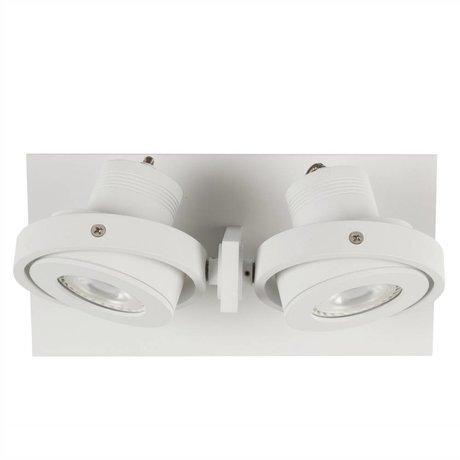 Zuiver aplique de pared de 2 DADOS 28x12x2,5cm acero blanco LED