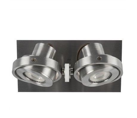 Zuiver applique da parete DICE 2 LED Stahlgrau 28x12x2,5cm