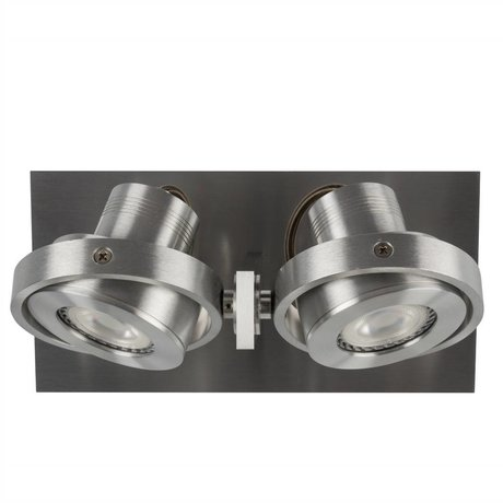 Zuiver Væglamper DICE 2 LED Stahlgrau 28x12x2,5cm