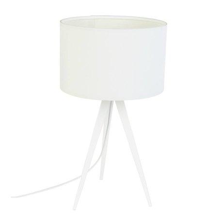 Zuiver Trépied Lampe de table métallique, 28x51cm blanc textile
