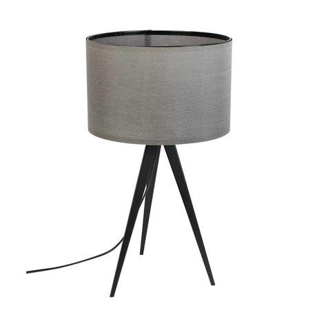 Zuiver Trípode lámpara de mesa de metal, textil 28x51cm gris negro