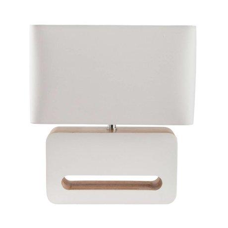 Zuiver Lámpara de mesa de madera textil 30x15x34cm madera blanca