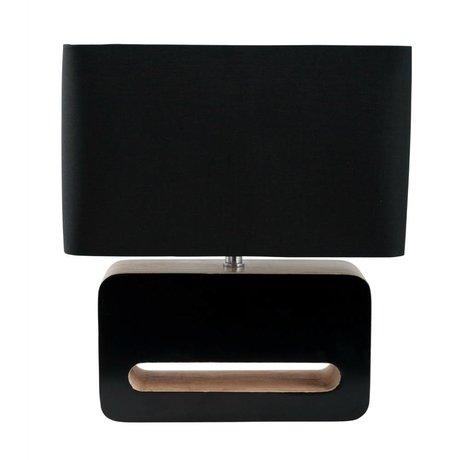 Zuiver bois Lampe de table, textiles, 30x15x34cm bois noir