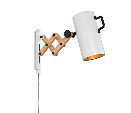 Zuiver applique da parete Flex legno acciaio 10x27,5-43x24cm bianco