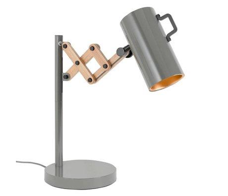 Zuiver Lámpara de mesa de madera de acero Flex 22x29,5-45x50cm gris