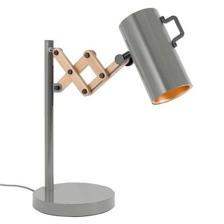 Zuiver Lampe de table Flex Acier Bois 22x29,5-45x50cm gris