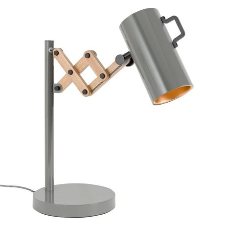 Zuiver Table lamp Flex Steel Wood gray 22x29,5-45x50cm