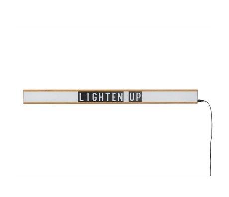 Zuiver Lampe Lightbox Saber weiß, braun Kunststoff 120x4x10cm