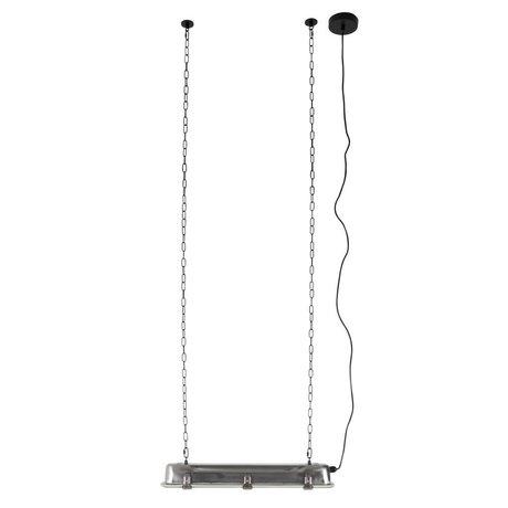 Zuiver GTA lampe suspension nickel, 70x14x10cm gris métallisé