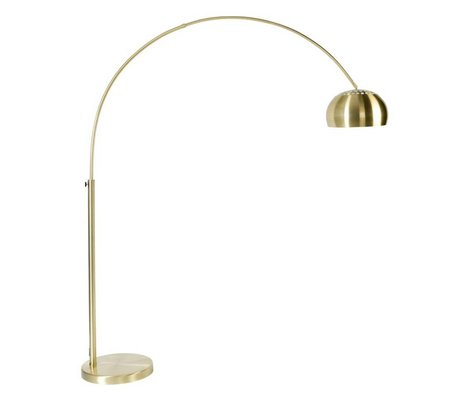 Zuiver Floor Lamp Metal bow brass, gold 190-205cm