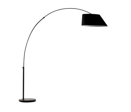 Zuiver Arc Floor Lamp black metal black 215cm