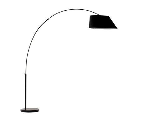 Zuiver Arc Floor Lamp black metal black 215cm
