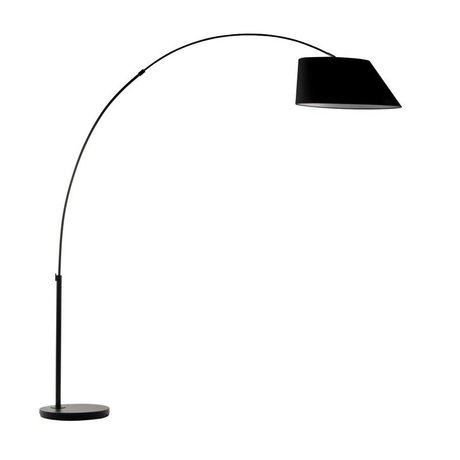 Zuiver Arc lampada da terra in metallo nero 215 centimetri nero