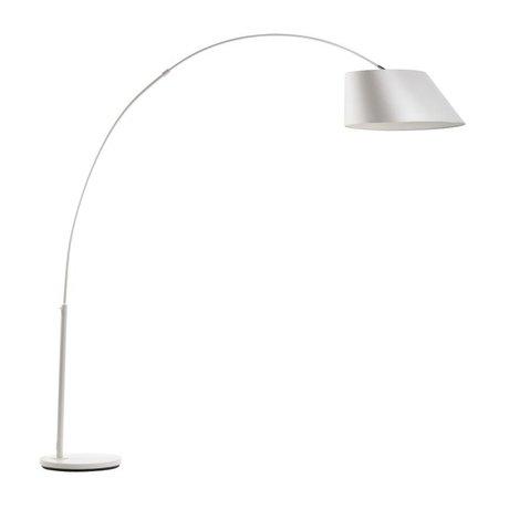 Zuiver Lámpara de pie de arco, de metal blanco 215cm blanco