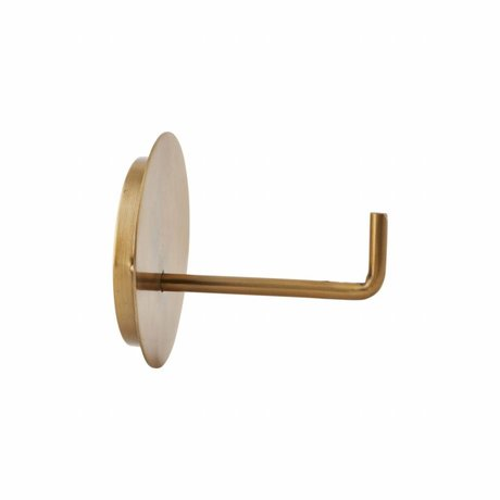 Housedoctor Toilet roll holder Text aluminum gold ø13x12.5cm