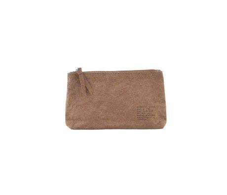 Housedoctor Makeup bag Nomadic Kraft olive 20x12x3,5cm
