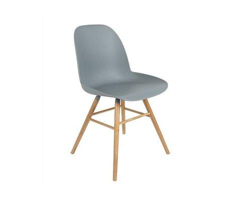 Zuiver Spisebordsstol Albert Kuip plast træ lysegrå 62x56x61cm