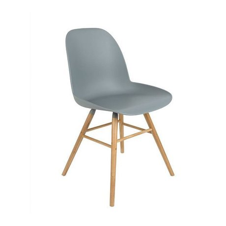 Zuiver Dining chair Albert Kuip plastic wood light gray 62x56x61cm