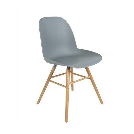 Zuiver Salle à manger Chaise Albert Kuip bois plastique 62x56x61cm gris clair