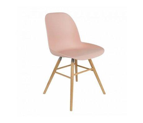 Zuiver Salle à manger Chaise Albert Kuip plastique rose bois 62x56x61cm