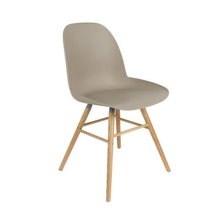 Zuiver Dining chair Albert Kuip plastic wood brown 62x56x61cm