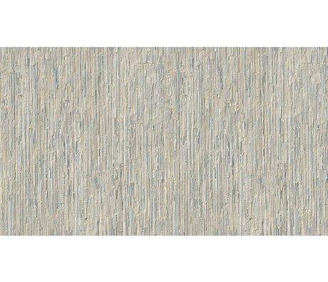 "NLXL-Arthur Slenk Wallpaper ""Remixed 7 'de papier, crème / bleu, 900x48.7cm"