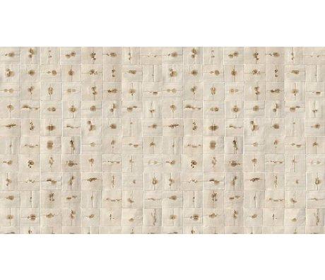 NLXL-Arthur Slenk Tapete 'Remixed 6' aus Papier, creme/braun, 900x48.7cm