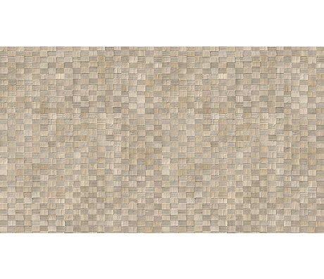 NLXL-Arthur Slenk Tapete 'Remixed 5' aus Papier, creme/schwarz, 900x48.7cm