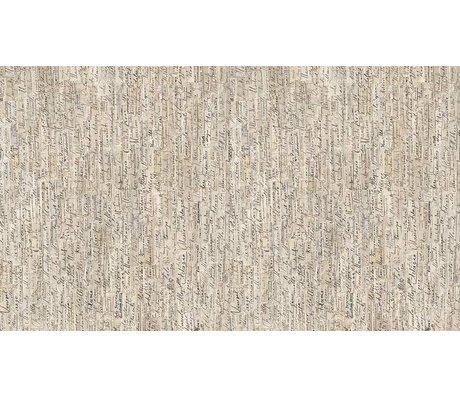 NLXL-Arthur Slenk Wallpaper 'Remixed 3' di carta, crema / nero, 900x48.7cm